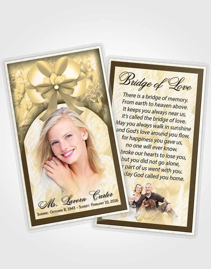 2 Page Grad Fold Funeral Program Template Brochure Autumn Petals ...
