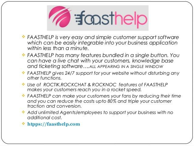 faasthelp standardize customer support experience
