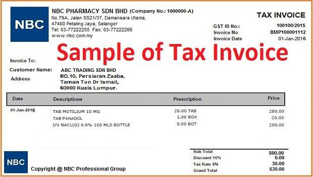Download Tax Invoice Template Gst Free | rabitah.net