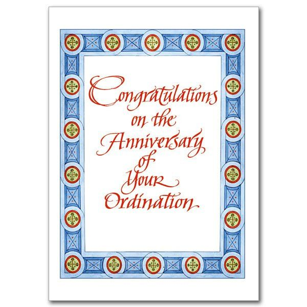 Ordination Anniversary Cards, Buy Priest & Deacon Anniversary ...