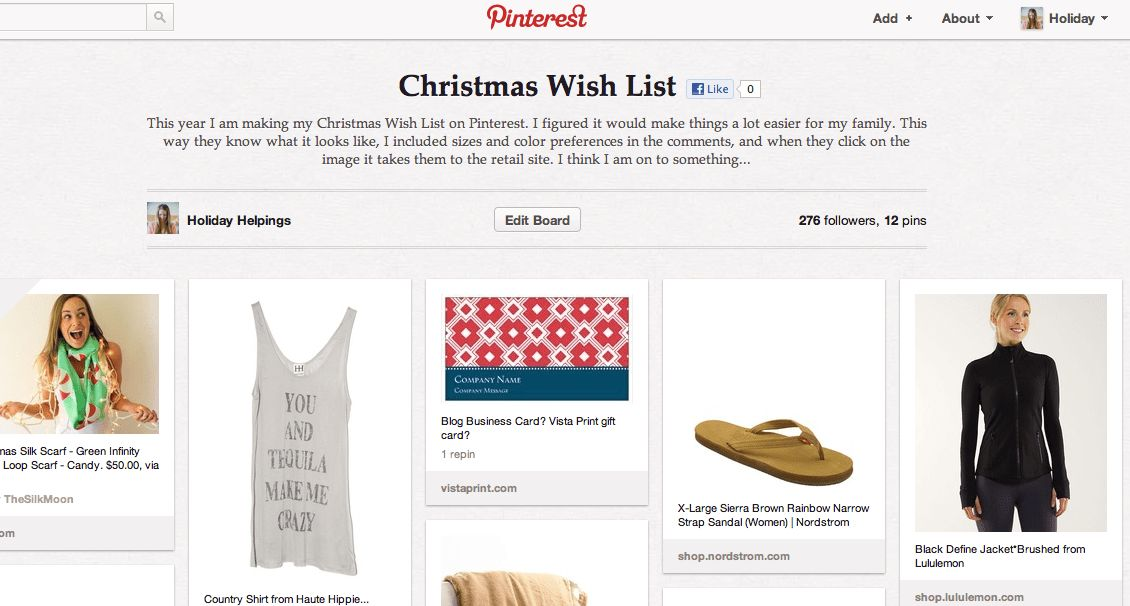 Christmas Wish List on Pinterest - Holiday Helpings