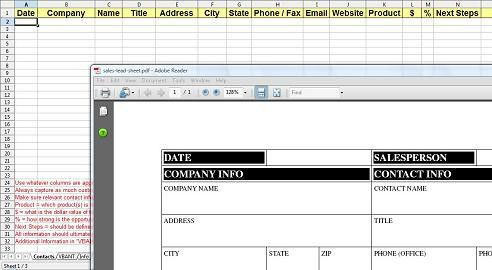 Sales Lead Sheet - The Starting Point For Successful Sales Lead ...