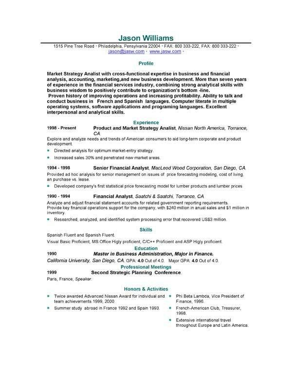 resume samples for job pamelas example resume for job application ...
