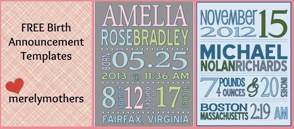 Free Printable Baby Announcement Templates - funnystuff - Peg It Board