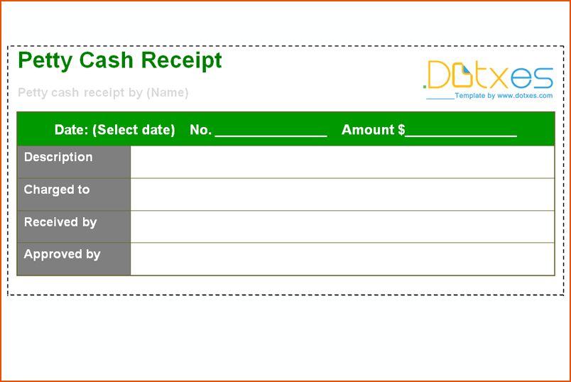 8+ petty cash receipt - bookletemplate.org