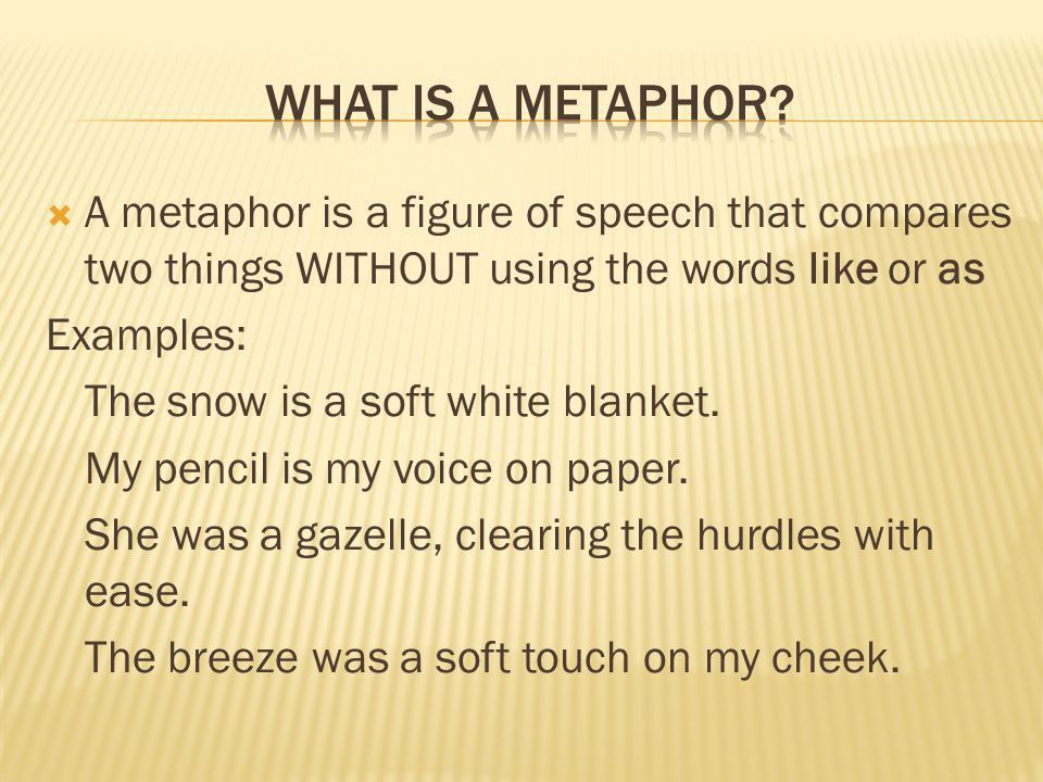 Literary analysis term conclusion metaphor Usage and a list of ...
