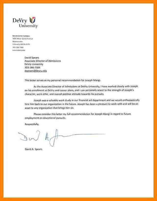 11+ reference letter for college | packaging clerks