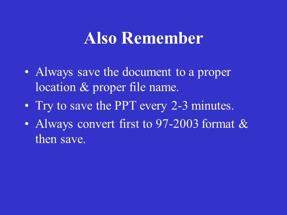 Guidelines for Preparing Powerpoint Presentations - ppt download