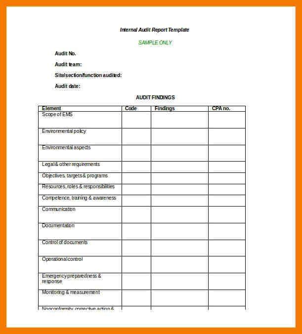 6+ audit report format in word | mailroom clerk