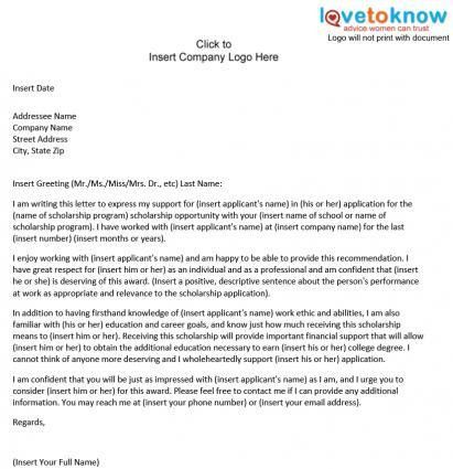 Ideas Collection Sample Recommendation Letter For A Former Co ...