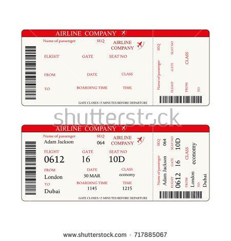 Vector Airline Passenger Baggage Boarding Pass Stock Vector ...