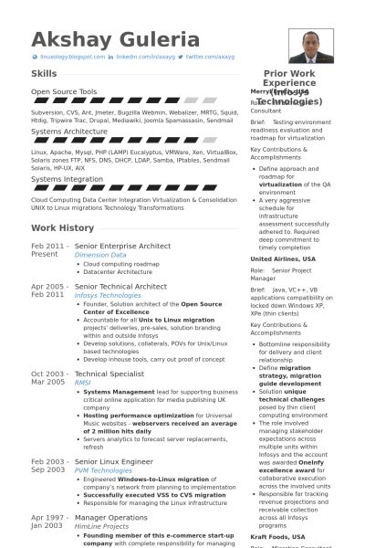 Architect Resume samples - VisualCV resume samples database