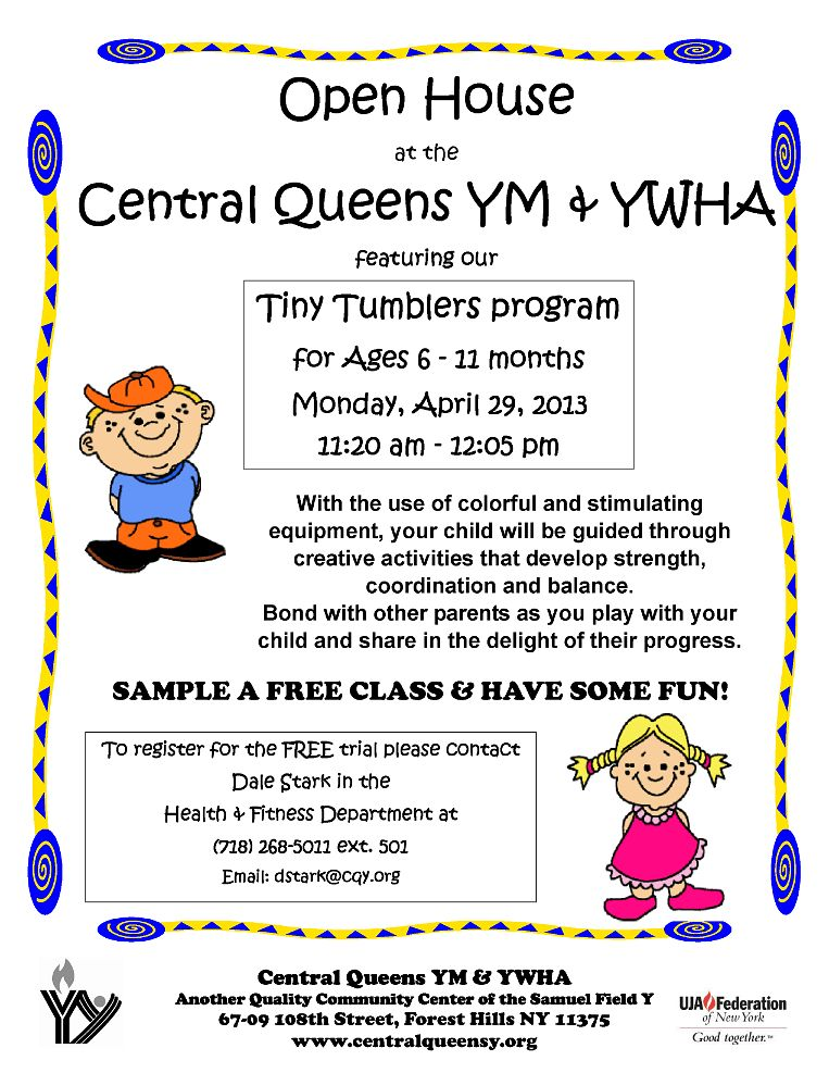 Open House featuring Tiny Tumblers | Central Queens Y