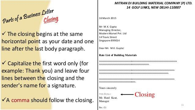 Business letter and memo writing presentation