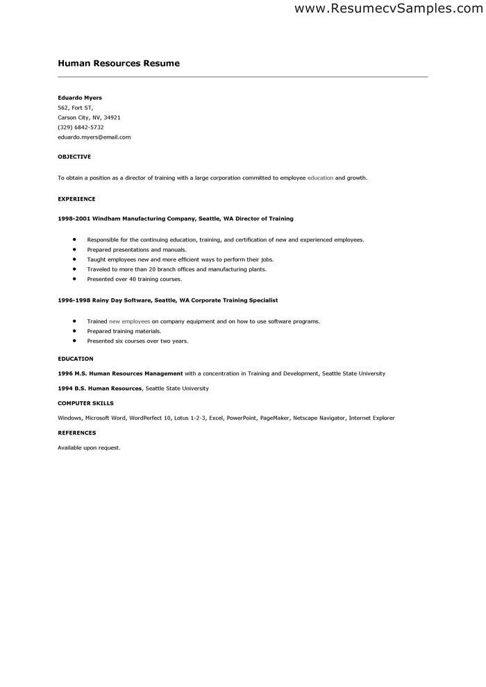 Resume Cover Letter Samples Human Resources Position Gogetresume ...