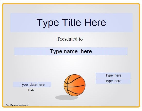 Basketball Certificate Template - 13+ Free Word, PDF, PSD Format ...