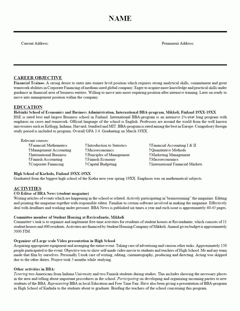 Resumes For Teachers 18 Download Sample Resumes For Teachers ...