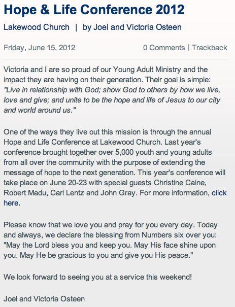 Church Event Invitation Letter