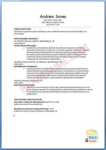 How to Write a Therapist Resume