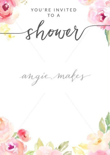 Invitation Templates Archives - Angie Makes Stock Shop