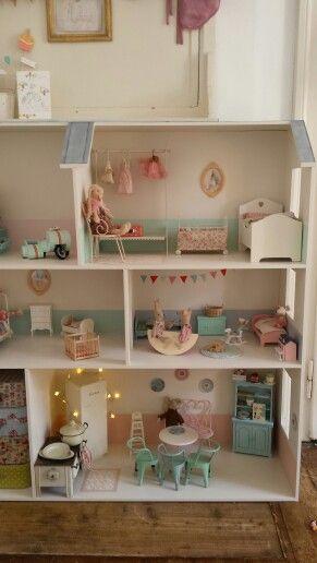 Cómo hacer una librería casa de muñecas con una caja de madera - peinture sur meuble bois