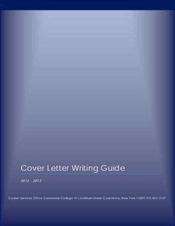 STANDARD COVER LETTER WRITING - The Boston Conservatory