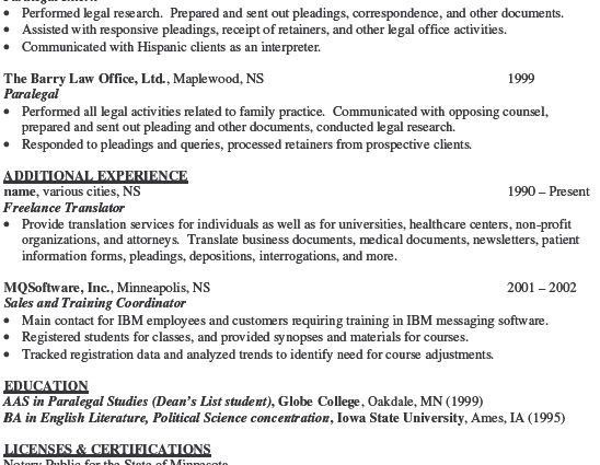 Sample Litigation Paralegal Resume] Paralegal Resume Samples