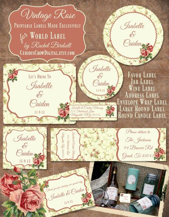 Free Decorative Label Templates | Simple bottle label 01 - Vector ...