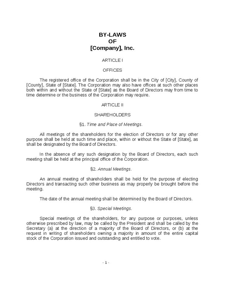 bylaws-form-template