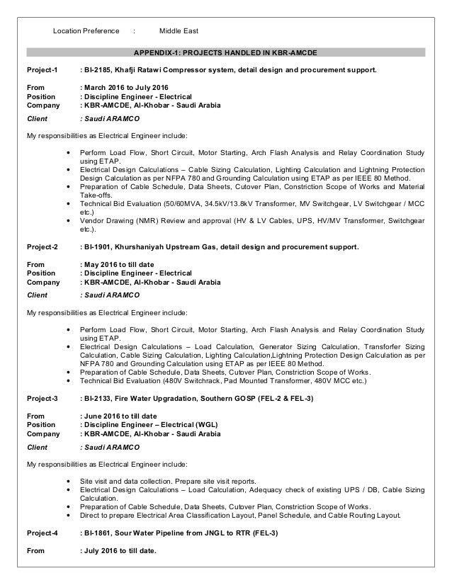 Resume Electrical Engineer (MYA)