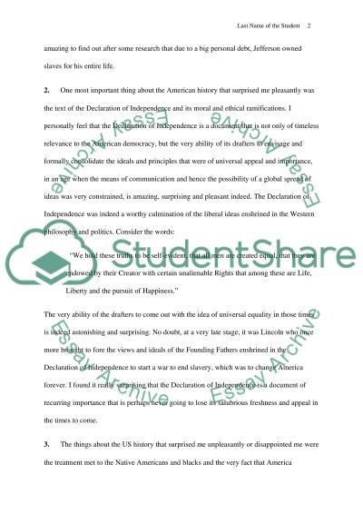 U.S. History - Reflection Paper Essay Example | Topics and Well ...