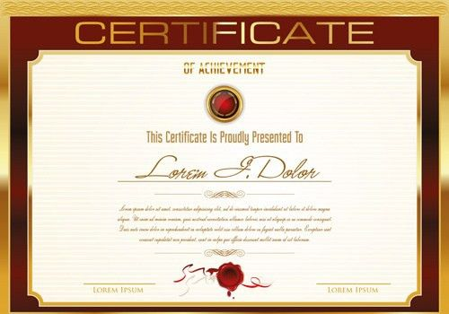Certificate designs free free award certificate templates word certificate template adobe illustrator free vector download yadclub Image collections