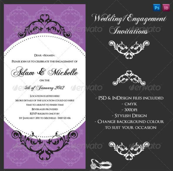 65+ Best Wedding Invitation Templates - PSD & InDesign