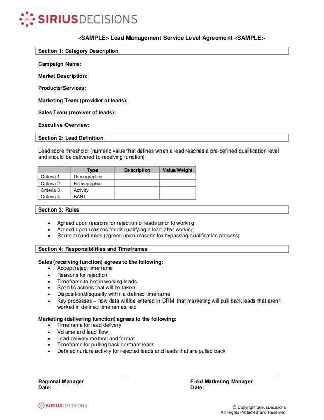 Sample Service Level Agreement. Maid Service: Sample Maid Service ...