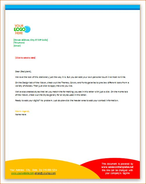 8+ business letterhead examples | Memo Formats