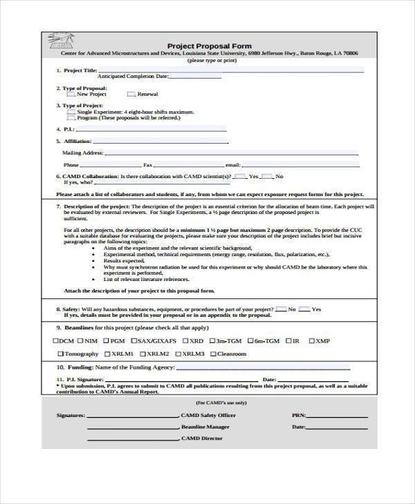 Sample Free Proposal Forms - 36+ Free Documents in Word, PDF