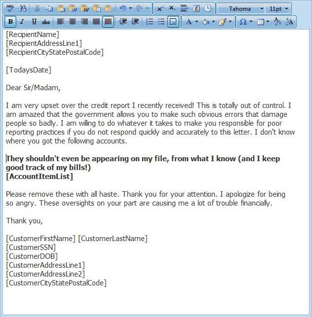 Credit Repair Letter Library, FREE Credit Repair Letters ...