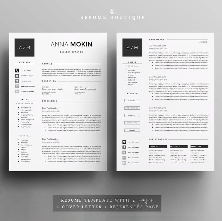 115 best template images on Pinterest | Cv template, Cv design and ...