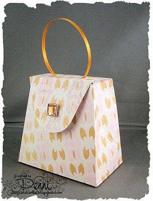 Handbag gift box: free template to download | Complimentary ...