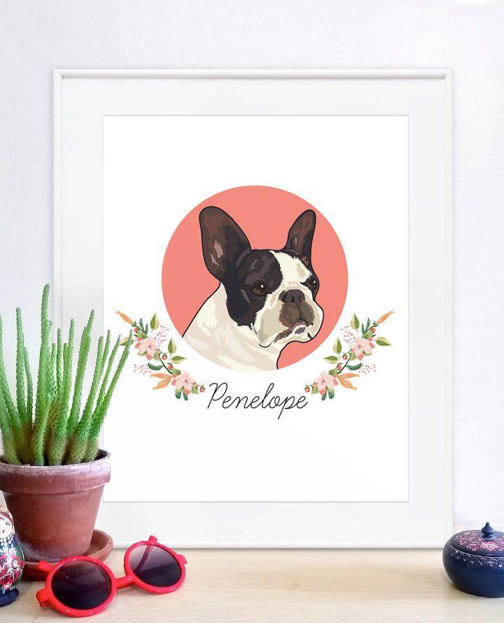 Pet Portraits custom pet portrait unique gifts funny gifts