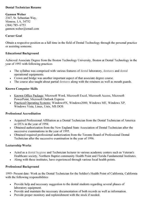application letter for technician position job resume templates ...