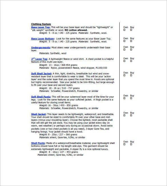 Equipment List Template - 10+ Free Word, Excel, PDF Format ...