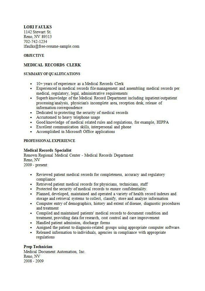 Sample Clerical Resume Stock Clerk Resume Examples Vosvete .