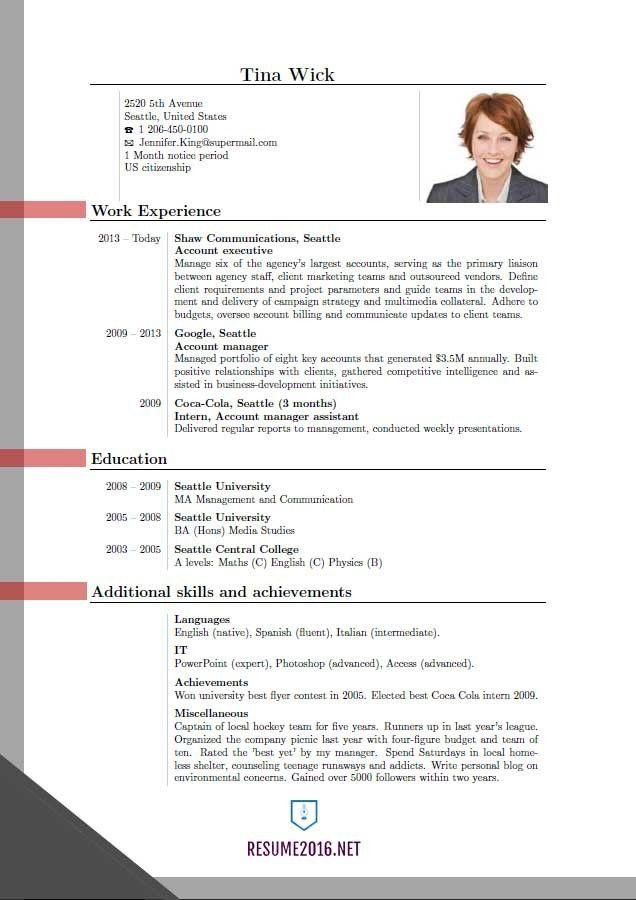 Latest Resume Format Curriculum Vitae Samples Pdf Template 2016 ...