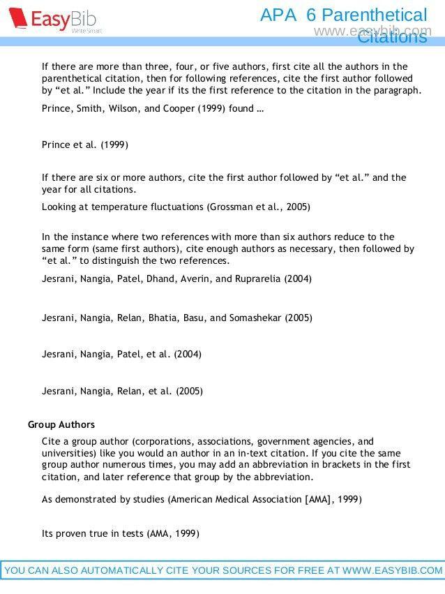 Apa parenthetical citations 6th ed