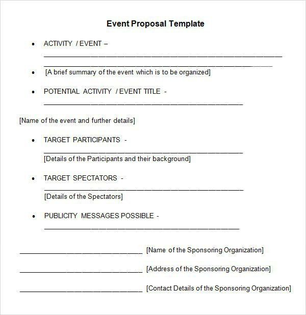 10 Best Images of Event Proposal Template - Event Planning ...