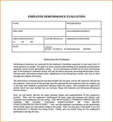 11+ employee self evaluation form | academic resume template