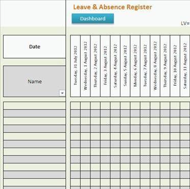 Leave & Absence Register