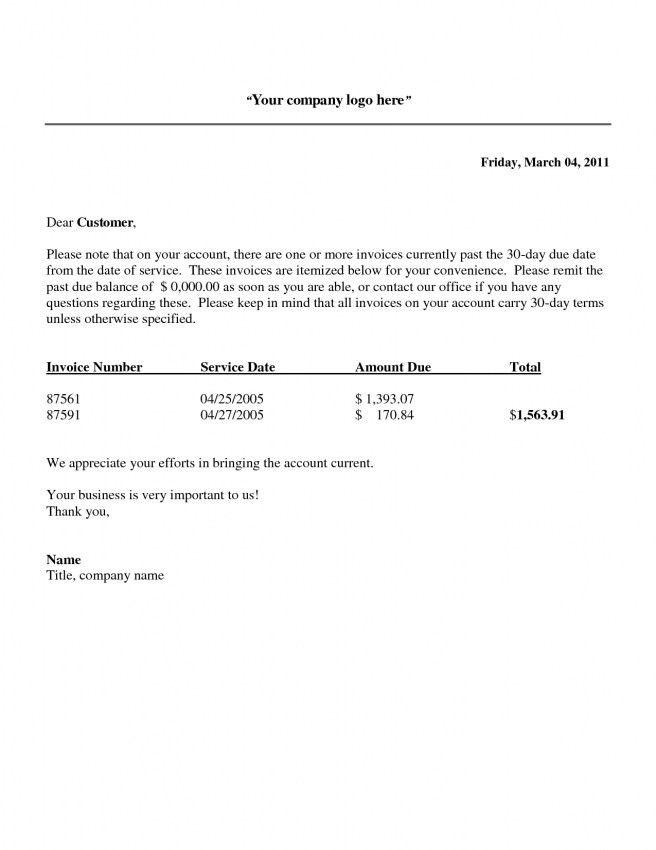 Invoice Template Letter | Design Invoice Template