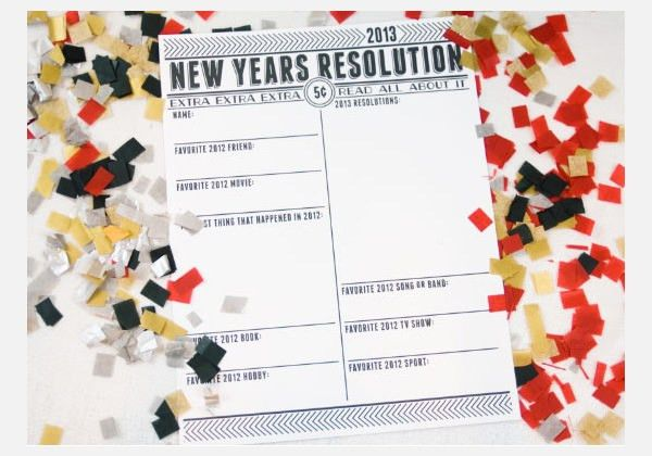 30+ Best New Year Resolution Templates & Design Ideas for 2015 ...